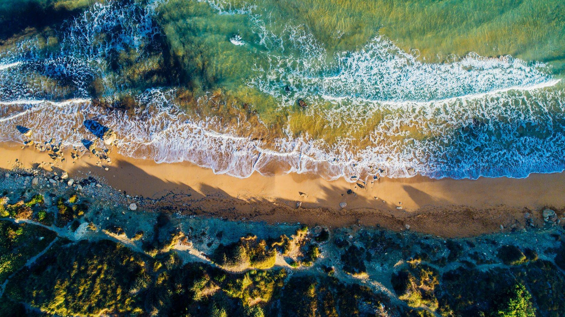 Aerial view Riviera Beach Malta