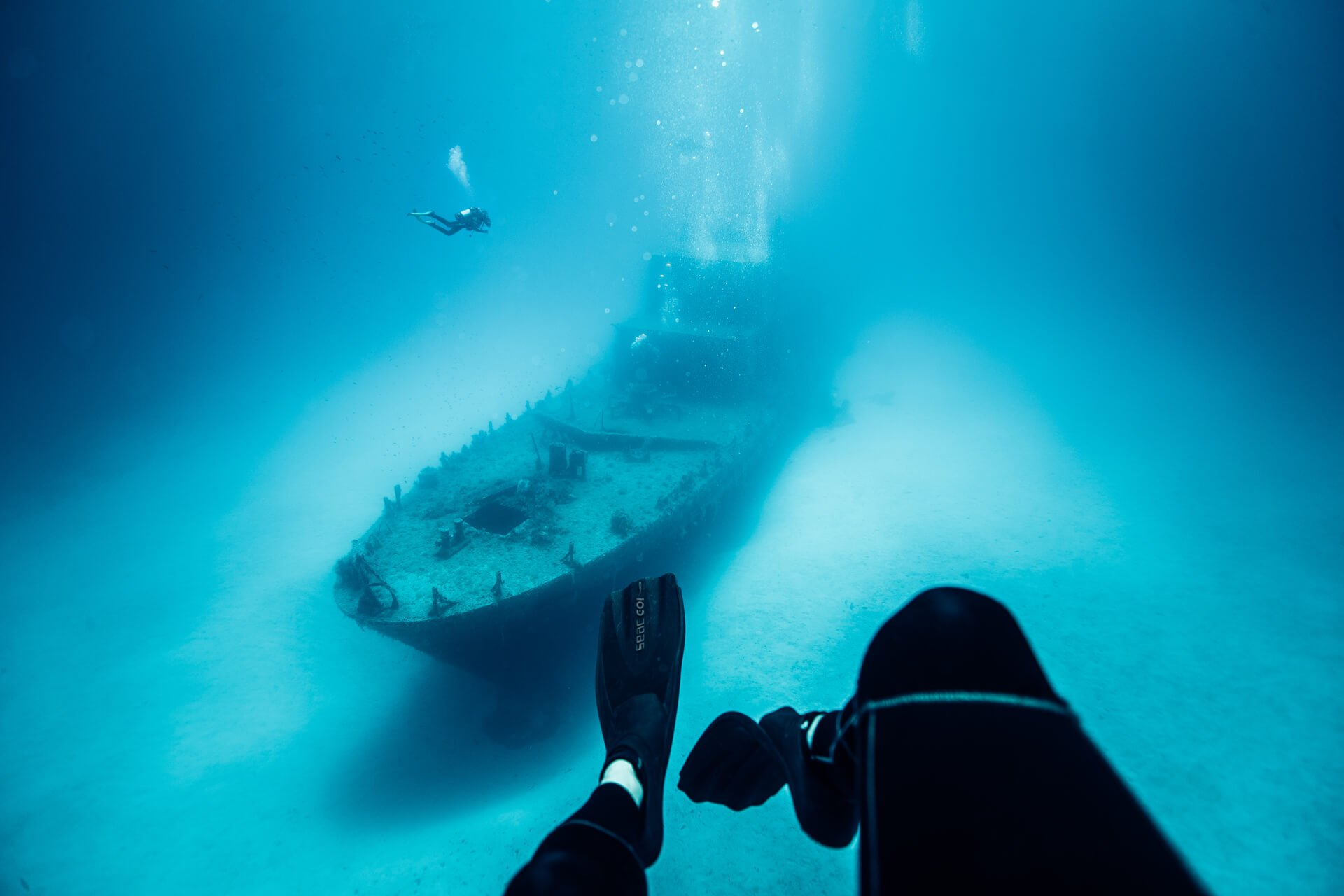 Divers and P31 wreck