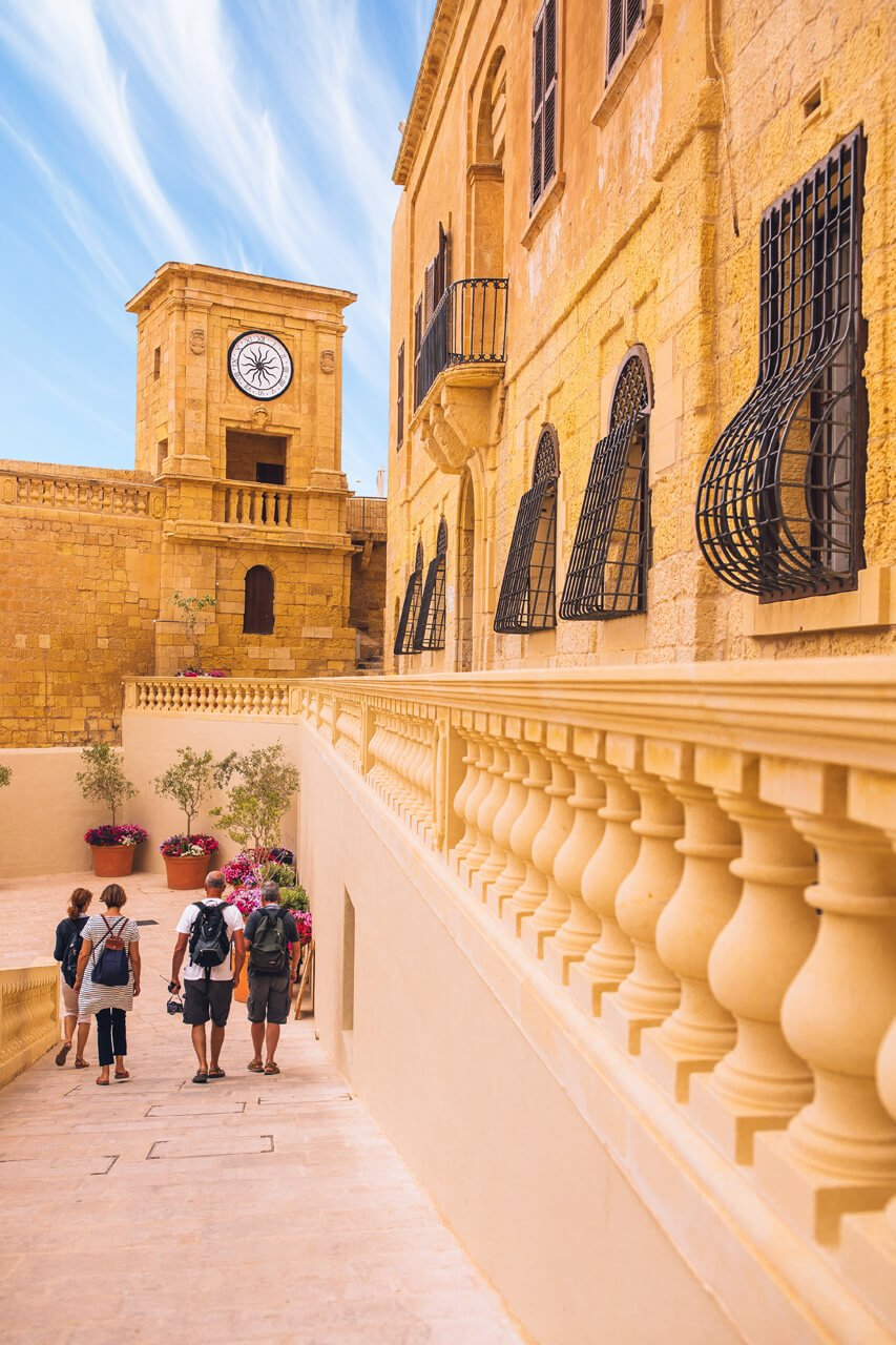 Family at Gozo's Old Citadel