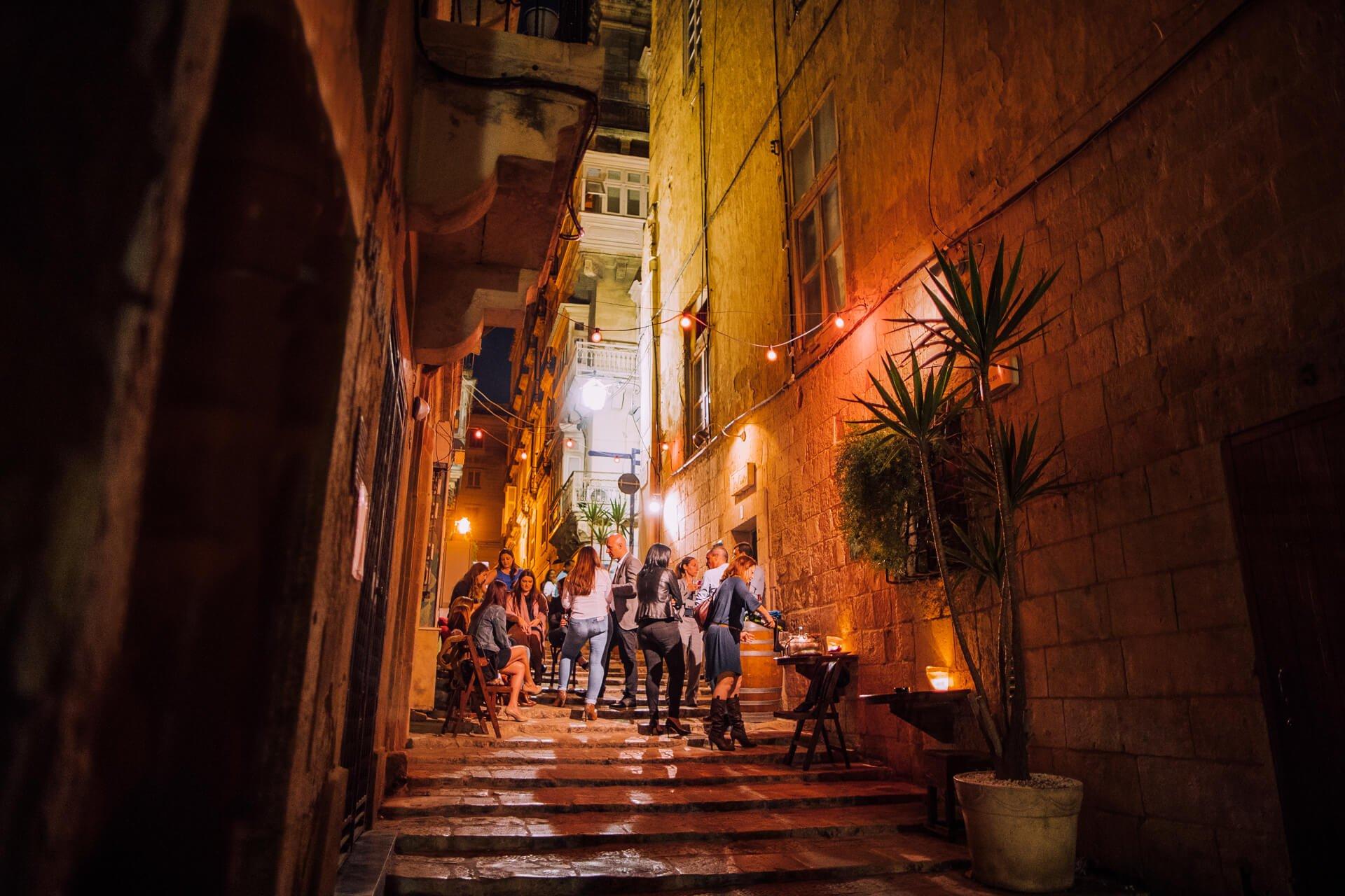 Strait Street, Valletta Night time bar