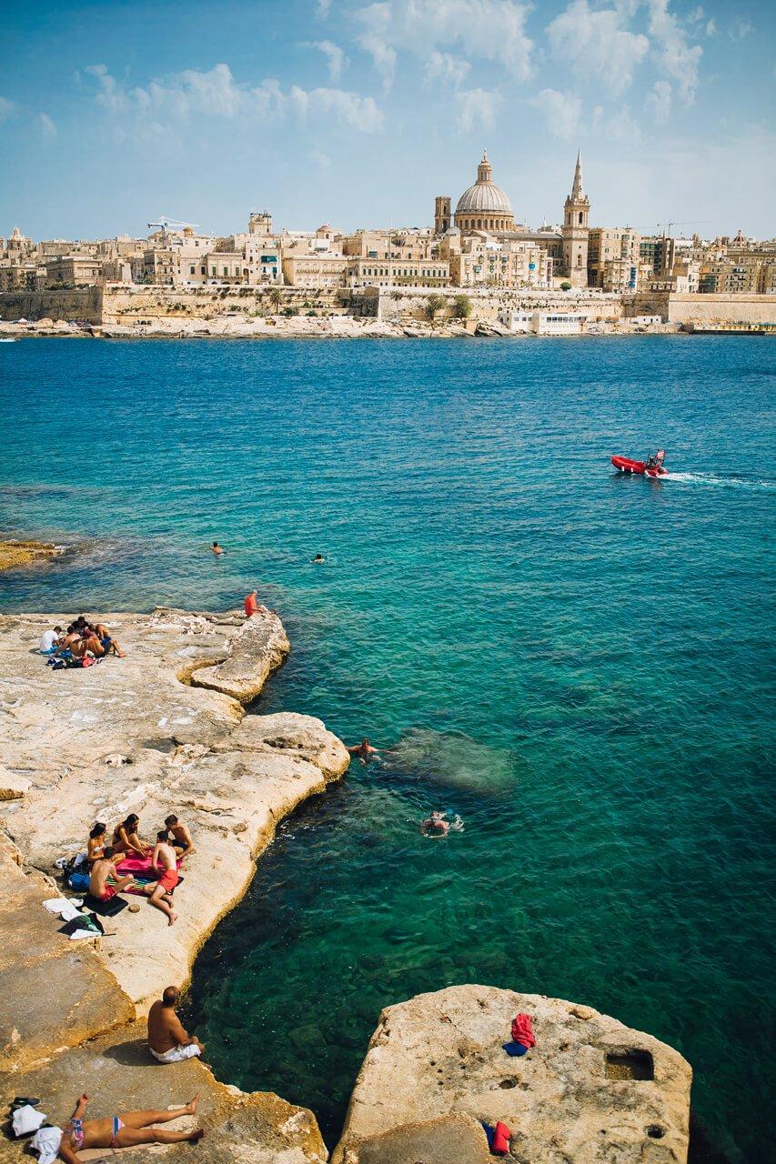 Swimming in Valletta Harbour