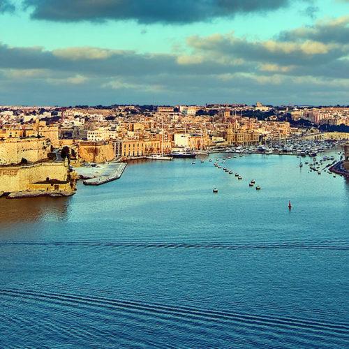 View of Malta's Grand Harbour
