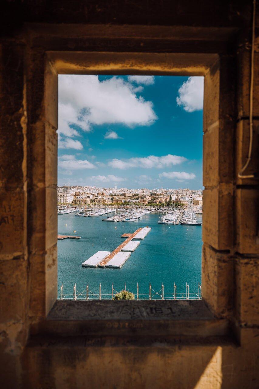 Window view of Pieta from Valletta
