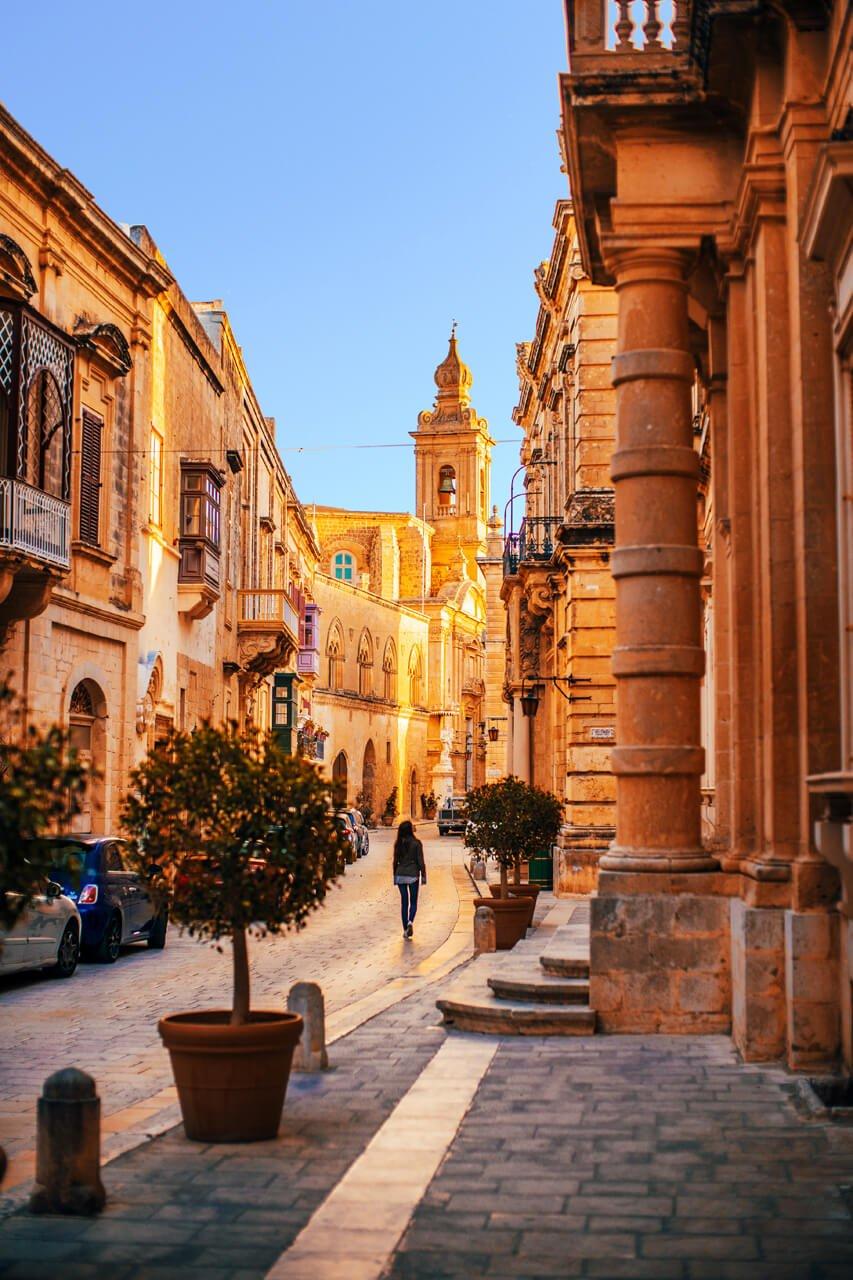 Young Woman exploring Mdina, Malta