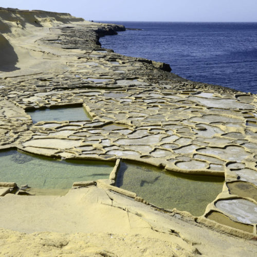 Xwejni Bay in Gozo