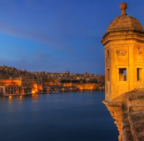 View of Malta's Grand Harbour from Senglea Point